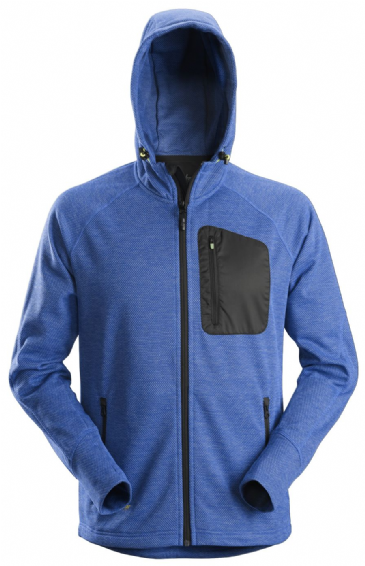 Snickers 8041 FlexiWork Fleece Hoodie (True Blue/Black)